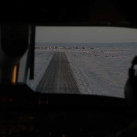 Approaching Shishmaref