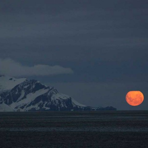 Blue Moon New Year's Day Antarctica