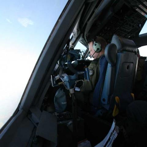 C-17 Captain Over Atlantic