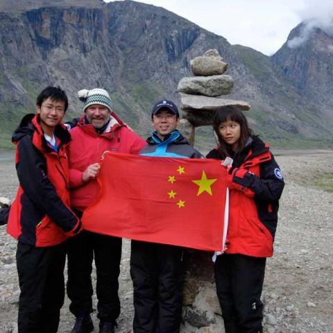 Chinese delegation Arctic Circle Akshayuk Pass