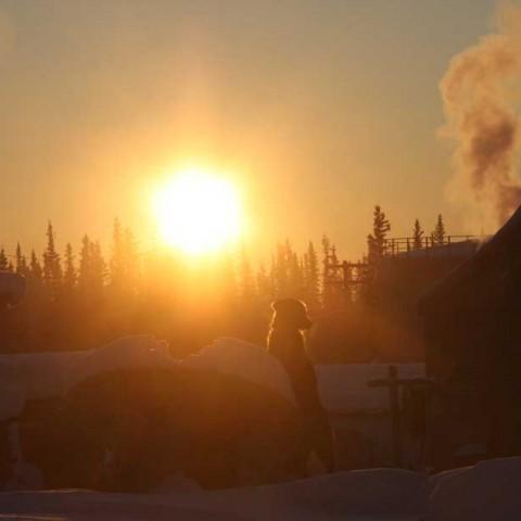 Noon Fort Yukon Alaska
