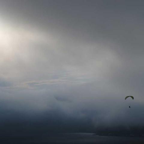 Over Sea of Okhotsk