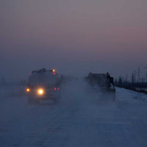 Road to Seliyaravo Russia