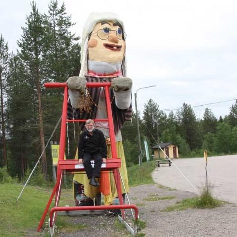 Sledding in Lapland
