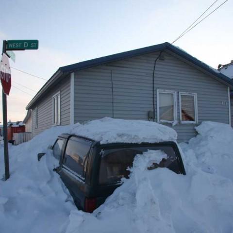 Snowed in Nome Alaska