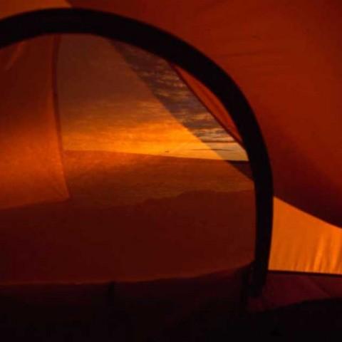 Tent Door in Evening Light