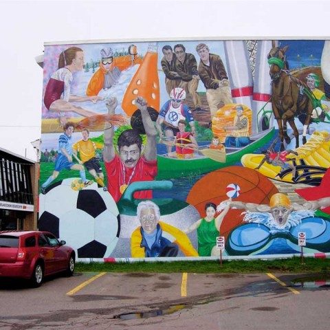Amherst Canoeobilia Mural Minden