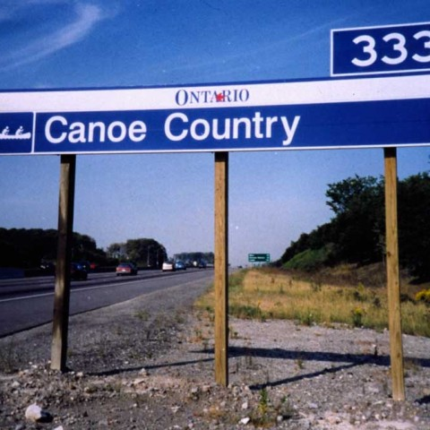 Canoe Country Sign