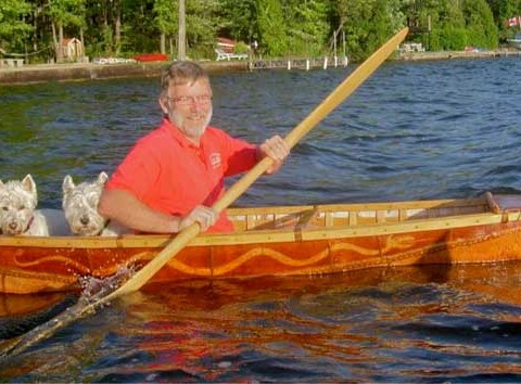 Digby Tucker JR Dogrib Bark Canoe