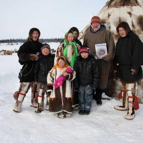 Laptender Family Near Gorno Knyazevsk