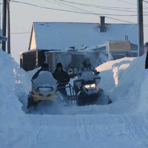 Main Street Shishmaref Alaska
