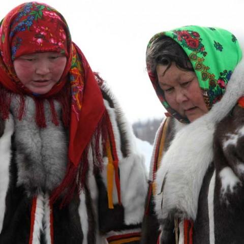 Nenet Ladies Aksarka Bazaar