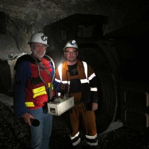 Underground in Kupol Mine Chukotka